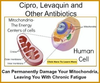 cipro tendonitis can lead to mitochondrial damage to cells leaving you chronic fatigue