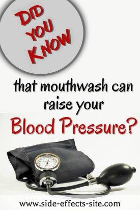 Chlorhexidine mouthwash can raise your blood pressure