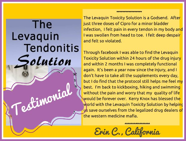 Levaquin Tendonitis Solution Testimonial Levaquin Tendonitis Solution Review