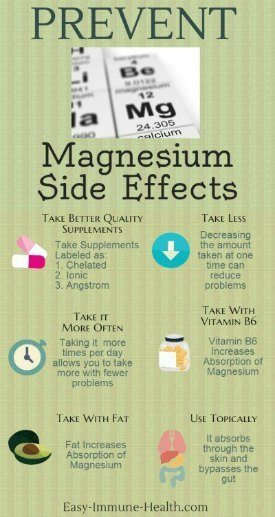 Prevent Magnesium Side Effects With a Few Easy Steps